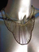 CHIC & UNIQUE Artisanal Antique Gold Metal Chain Drape Necklace - $24.99