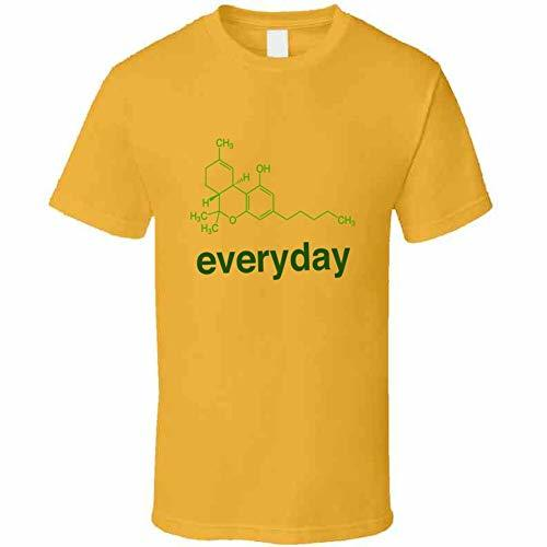 Tremendous Designs THC Formula Everyday 420 T Shirt 2XL Gold