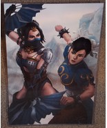 Kitana vs Chun Li Glossy Art Print 11 x 17 In Hard Plastic Sleeve - $24.99