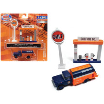 1960 Ford Tank Truck with Service Gas Station Gulf Oil 1/87 (HO) Scale M... - $34.69