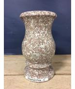 Seashell Pink Granite Stone Monument Vase Cemetery Graveside Memorial 9x5-C - $88.98