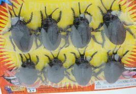 8 pc Fake Cockroaches Roach Bugs Scaring Prank Gross Halloween Trick Joke Prop  image 3