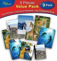 School 2 Pocket Folder, Animals 9/PC Value Pack by New Generation,Pocket... - $23.99