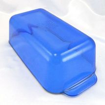 "Pyrex 213-R Cobalt Blue Loaf Pan 1.5qt Baking Dish 8.5""x4.5""x2.5"" image 4"