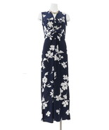 IMAN Global Chic Knockout Maxi Dress Navy Floral XS Avg NEW 602-396 - $47.50