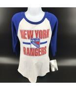 NHL New York Rangers Girls Shirt 3/4 Length Sleeves Size M (7/8) - NEW -i - $22.99