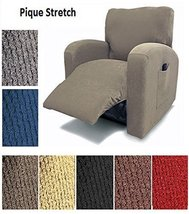 Orly's Dream Pique Stretch Fit Furniture Chair Recliner Lazy Boy Cover S... - $39.58