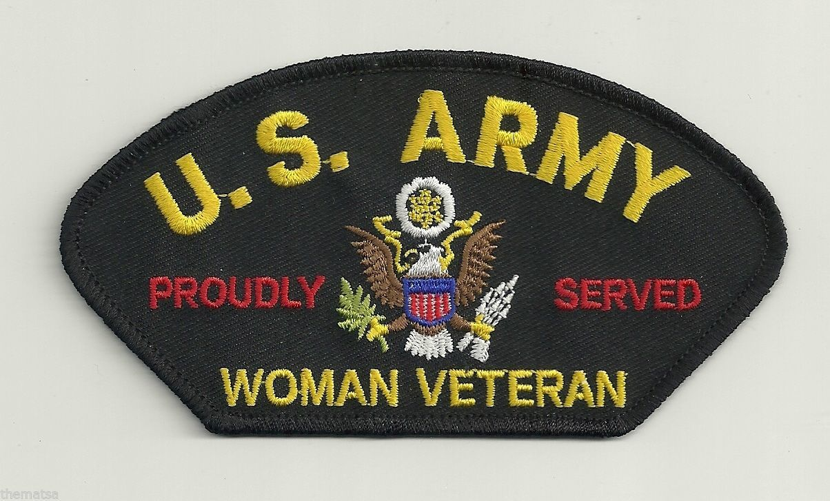 Primary image for WOMEN ARMY VETERAN PROUDLY SERVED LOGO MILITARY EMBROIDERED  PATCH
