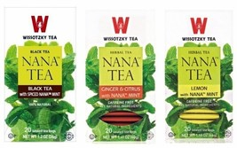 Wissotzky Nana Tea Selection Spiced Nana, Ginger & Citrus & Lemon Nana, 3/20 tb  - $18.25