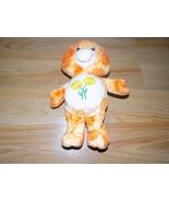 "11"" Friend Bear Care Bear Plush Orange Tie Dye Daisy Flower Tummy 2003 GUC - $17.00"