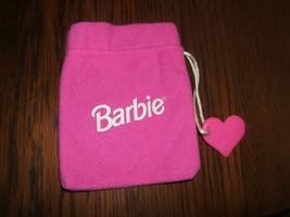 "Genuine 1995 Barbie Doll Fashion Pink 5"" Drawstring Sack  - $4.90"
