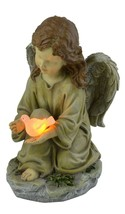Small Girls Glowing Cute Angel Garden Statue Decorations Solar Dove Glow... - €23,58 EUR
