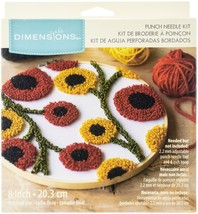"Dimensions Punch Needle Kit 8"" Round-Floral Pattern Pin - $20.46"