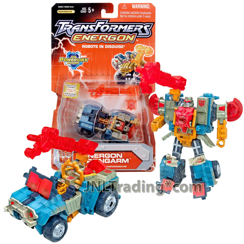 "Year 2004 Hasbro Transformers Energon Omnicon Class 4"" Figure ENERGON STRONGARM"