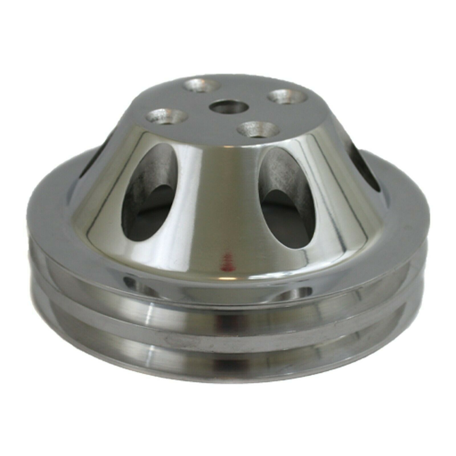 Chevy Small Block Double-Groove Aluminum Long Water Pump Pulley