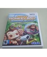 NINTENDO WII Super Monkey Ball Banana Blitz Racing + Game TESTED and COM... - $8.81