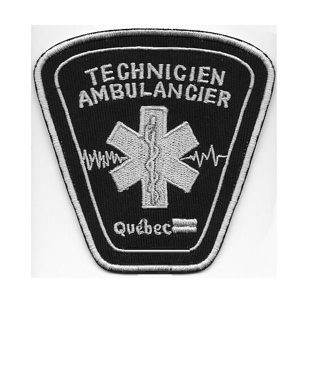 Uebec ambulancier technicien ambulancier certifie province de quebec  canada  4.5 x 4.25 in 9.99