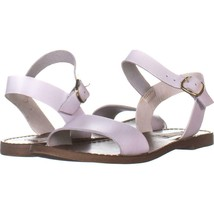 Steve Madden Donddi Flat Ankle Strap Sandals 803, White Leather, 6 US - $31.38