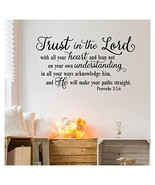 Trust in the Lord With All Your Heart..Proverbs 3:5-6 Vinyl Lettering Wa... - $29.98