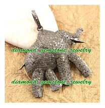 Elephant-5.00 Rose Cut Diamond Antique Victorian Look Wedding 925 Silver Pendant - $741.07
