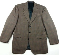Jeffrey Banks Sport Coat Mens 44 R Three Button Houndstooth Windowpane B... - $22.98