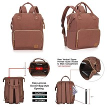 Veegul Stylish Doctor Style Canvas School Backpack Functional Travel Bag... - $50.59