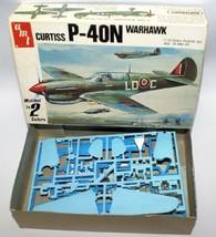 Vintage 1979 Amt 1:72 Scale Curtiss P-40N Warhawk Fighter Jet Model Kit 7105 - $14.00
