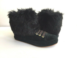 Ugg Antoine Fur Black Women Sneakers Boots Us 7 / Eu 38 / Uk 5.5 Nib - $101.92