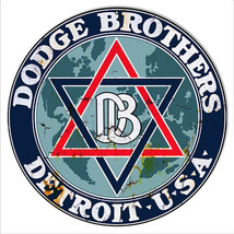Aged Dodge Bros Detroit Reproduction Garage Shop Metal Sign 14x14 - $25.74