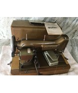 VINTAGE NEW HOME SEWING MACHINE LIGHT-RUNNING MODEL NLB 1940s CASE PEDAL... - $282.99