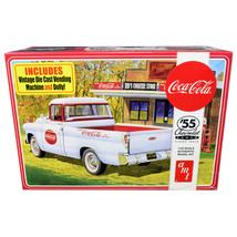Skill 3 Model Kit 1955 Chevrolet Cameo Pickup Truck Coca-Cola with Vintage Ve... - $50.87