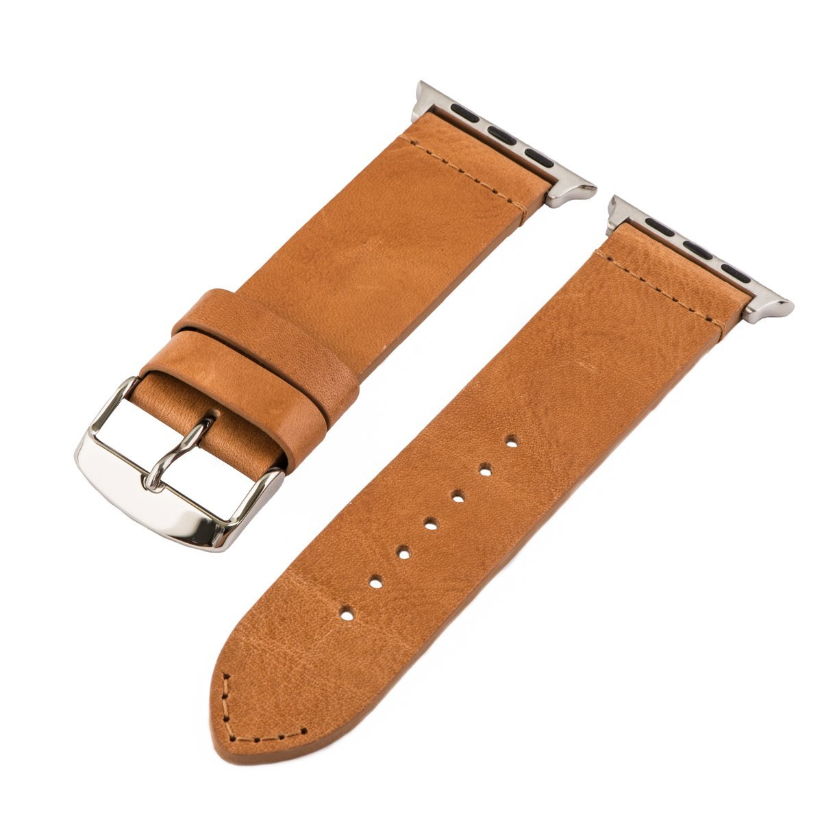 Clockwork Synergy - Watch Bands for Apple Watch (42mm Vintage Saddle Leather SS)
