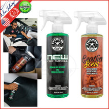 Chemical Guys New Car Smell And Leather Scent Air Freshener and Odor Eli... - $24.34