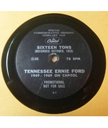 Tennessee Ernie Ford 78 RPM Capitol Records Commemorative - Sixteen Tons - $39.75