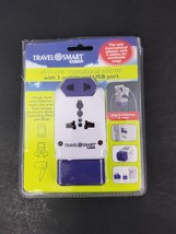 Conair Travel Smart Universal 3 Outlets All-in-One Adapter with 1 USB Ou... - $18.69