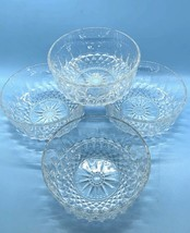 "Arcoroc France  Crystal Glass 5"" Bowls Diamond Starburst Fruit-Dessert S... - $34.60"