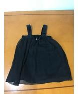 Girls Kids Guess Jeans Black Multi-Layer Sleeveless Blouse Top Shirt Siz... - $9.89