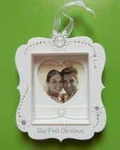 Christmas Tree Ornament Photo Picture Frame First Christmas 2011 Hallmar... - $16.44