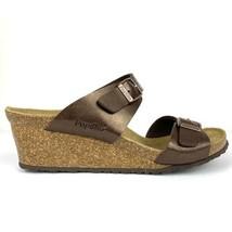 Papillio Birkenstock Womens 9 Dorothy Wedge Sandal Metallic Brown UK 7 E... - $79.46