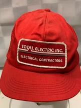 TOTAL ELECTRIC INC Electrical Contractors VTG Patch Snapback Adult Cap Hat - $18.21