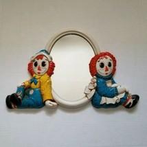 Syroco Raggedy Ann Andy Mirror Vintage 1977 Collectible Wall Decor Bobbs... - $49.95