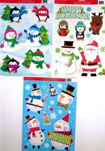 Christmas Reusable Window Clings ~ ( 3 Pack ) C - $9.87