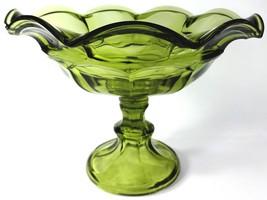 "1970's Westmoreland Olive Green Glass Ashburton 10.5""d Fruit Bowl Open C... - $69.99"