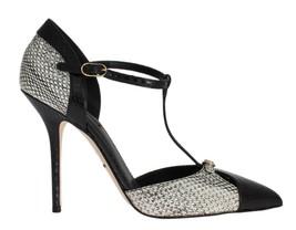 Dolce & Gabbana Women Silver Black Snakeskin Ayers Pumps EU39/US8.5 - $363.68