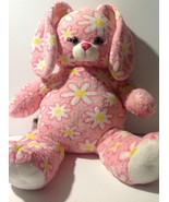 Build a Bear Pink Easter Bunny Rabbit w/ Flowers Plush Stuffed Animal Do... - $9.90