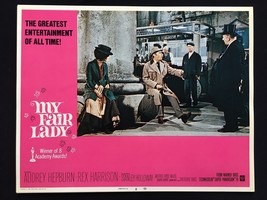 MY FAIR LADY original AUDREY HEPBURN lobby card REX HARRISON Musical VF 2 - $23.02
