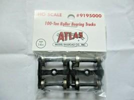Atlas # 195000 (9195000) 100 Ton Roller Bearing Trucks 1 Pair  HO Scale image 1
