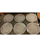 6 Vntg. HOMER LAUGHLIN Virginia Rose DINNER PLATES REPLACEMENTS # L52N8 ... - $29.69