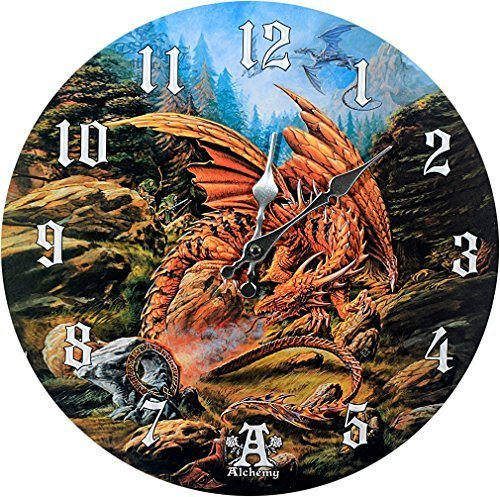 "Primary image for Dragons of Runnering Wall Clock By Alchemy Gothic Round Plate 13.5""D"