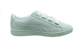 Puma Womens Vikky V2 Ribbon V2 S Sneakers Fair Aqua Silver Blue Size UK 6.5 - $46.71